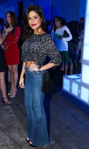 24.set.2014 - A atriz Priscila Sol vai à festa das Organizações Globo, em um estúdio da filial paulista da emissora, no Brooklin Novo, na zona sul de São Paulo, nesta quarta-feira