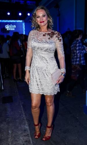 24.set.2014 - Adriana Colin marca presença em uma festa das Organizações Globo em um estúdio da emissora, no Brooklin Novo, na zona sul de São Paulo, nesta quarta-feira
