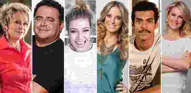 Montagem: Divulgação/Divulgação/Divulgação/Edu Moraes-Divulgação/Ellen Soares-TV Globo/Edu Moraes-Divulgação