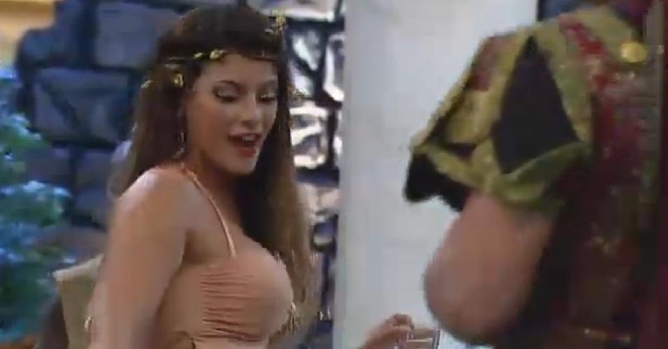 26.set.2014 - Babi Rossi dança em festa Romana de