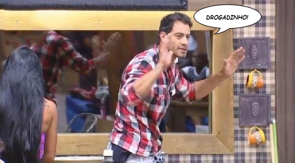 """Diego Cristo chama DH de """"drogadinho"""" durante briga em """"A Fazenda 7"""""""