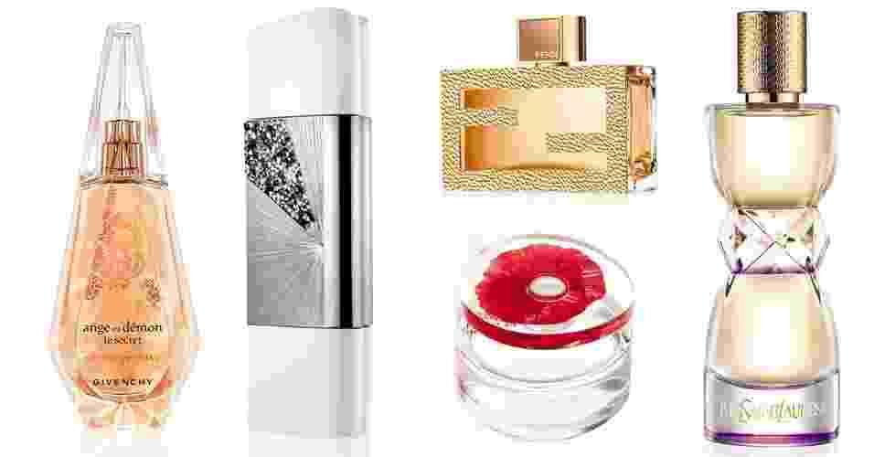 Montagem lançamentos de perfumes de setembro - Fotomontagem UOL/Divulgação