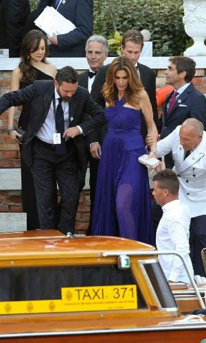 27.set.2014 - Cindy Crawford no casamento de George Clooney