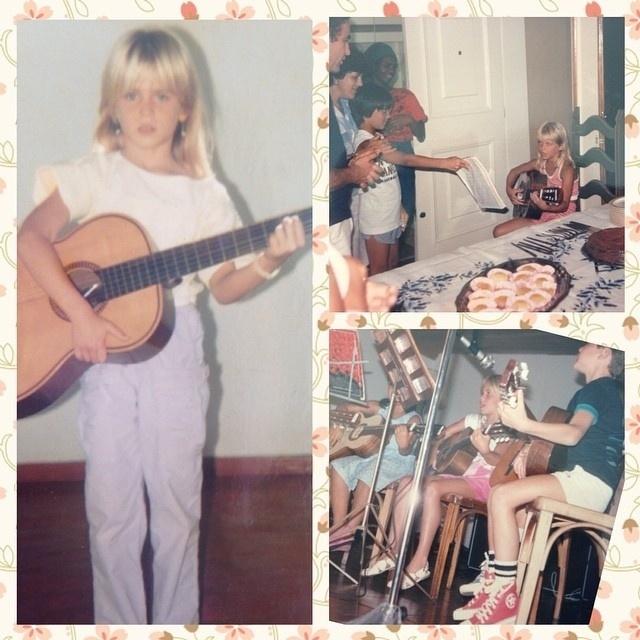 28.set.2014 - Susana Werner posta foto da infância, mostrando sua paixão pela música
