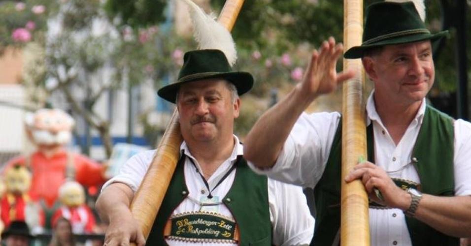 Dos dias 8 a 26 de outubro a cidade de Blumenau (SC) realiza a versão brasileira da Oktoberfest. É a maior festa tradicional alemã das américas ? divulgação/Oktoberfest