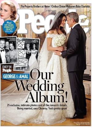 George Clooney se casou com a advogada britânica Amal Alamuddim no último sábado (27) - Divulgação/Revista People