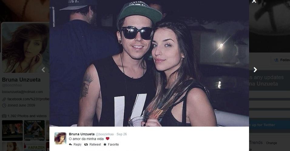 DH com sua namorada, Bruna Unzueta
