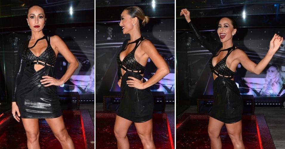 """1.out.2014 - Sabrina Sato exibe figurino ousado e justo em festa da edição de aniversário da revista """"Estilo"""", na noite desta quarta-feira, em um hotel de São Paulo"""