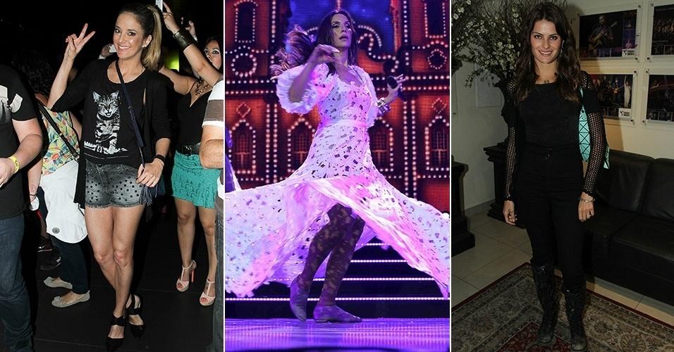 1.set.2014 - Isabelli Fontana e Ticiane Pinheiro marcaram presença no show de Ivete Sangalo, no Espaço das Américas, em São Paulo