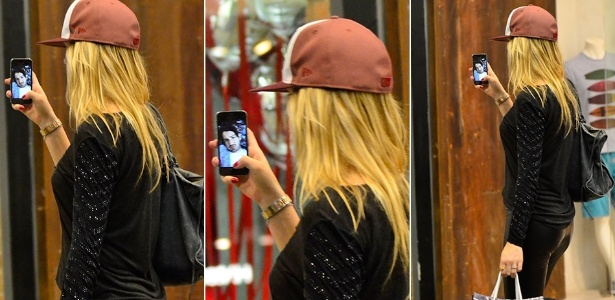 Atriz Fiorella Mattheis é flagrada conversando com Alexandre Pato pelo celular