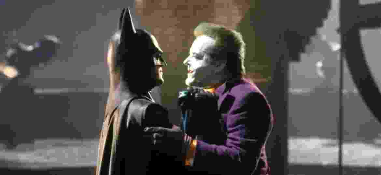 """Batman e Coringa se enfrentam no clímax de """"Batman"""" (1989) - Divulgação"""