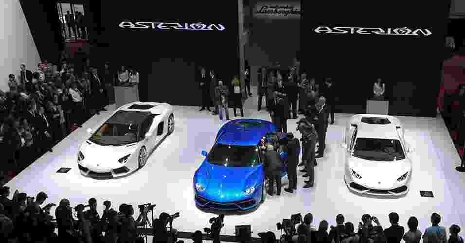 Lamborghini Asterion no Salão de Paris 2014 - Eric Piermont/AFP