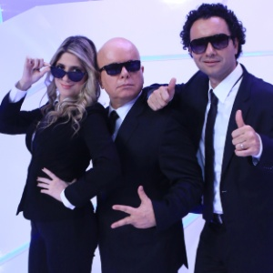 "Dani Calabresa, Marcelo Tas e Marco Luque, integrantes do ""CQC"""