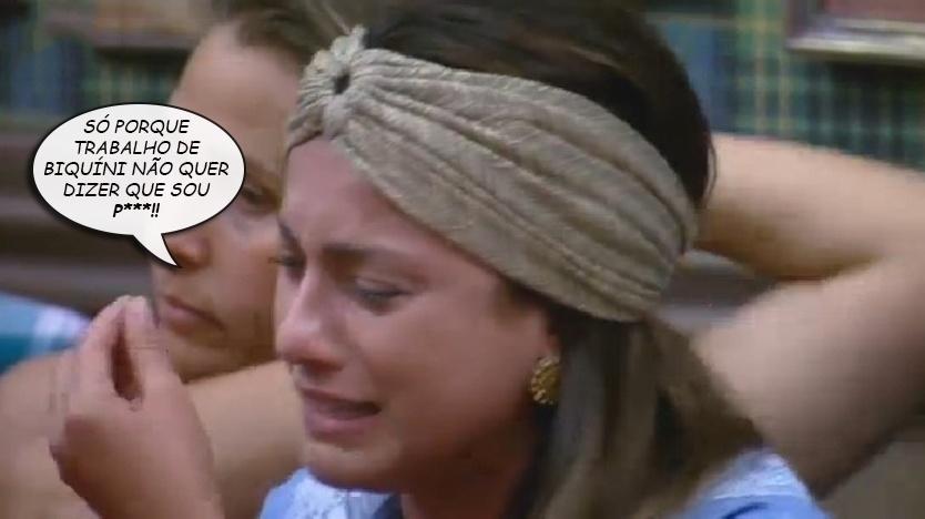 """Álbum balãozinho - Babi Rossi chora e diz que não é garota de programa em """"A Fazenda 7"""""""