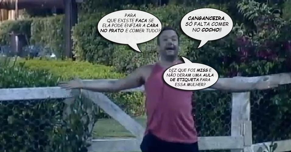 Álbum balãozinho - Felipeh Campos declara opiniões sobre Lorena Bueri após receber críticas da Gata do Paulistão