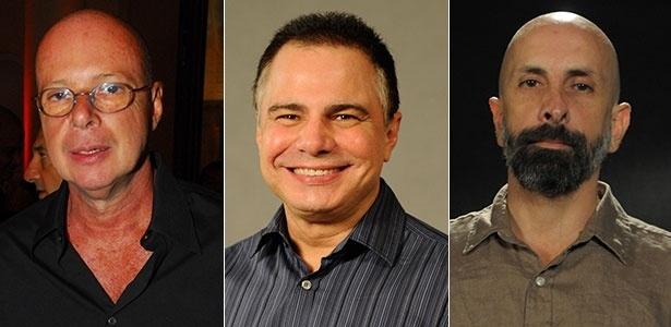 """Gilberto Braga, Ricardo Linhares e João Ximenes Braga, que assinam juntos a novela """"Babilônia"""""""