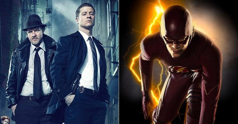 Montagem Gotham e The Flash