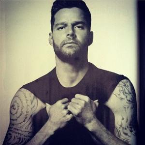 Ricky Martin em foto publicada em seu Instagram