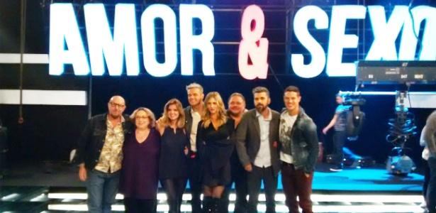 """Equipe de """"Amor & Sexo"""" grava o primeiro programa da nova temporada"""