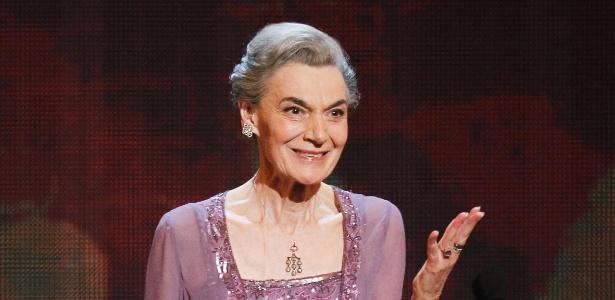 13.jun.2014 - Atriz Marian Seldes recebe prêmio pelo conjunto da obra no Tony Awards - Gary Hershorn/Reuters