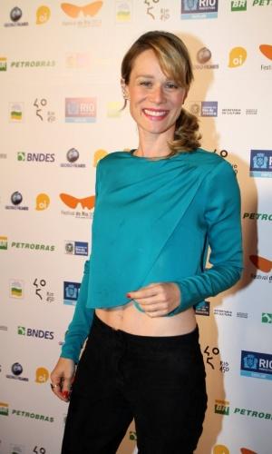 7.out.2014 - A atriz Mariana Ximenes na pré-estreia do filme
