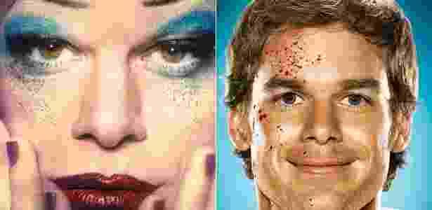 """Michael C. Hall em """"Hedwig anf the Angry Inch"""" e em """"Dexter"""" - Reprodução - Reprodução"""