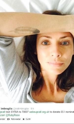 """Natalie Imbruglia também topou participar da nova campanha, chamada """"Wake Up Call"""""""