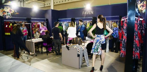 Estande da marca Faven, no Salão de Negócios do 15º Minas Trend, em Belo Horizonte - Sebastião Jacinto Junior/Fiemg