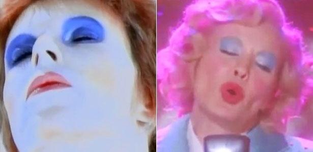 """Jessica Lange canta """"Life on Mars"""", de David Bowie (à esq)"""