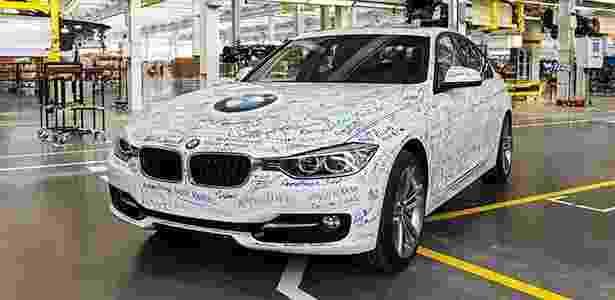 Primeiro BMW Série 3 de produção montado na fábrica de Araquari (SC) - Bruno Mooca/Divulgação - Bruno Mooca/Divulgação