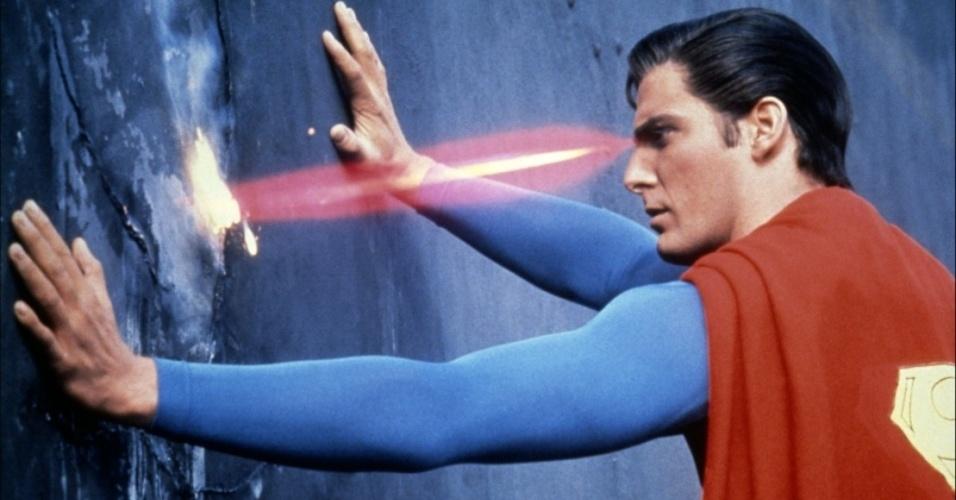 """Christopher Reeve em cena do filme """"Superman 3"""" (1983)"""