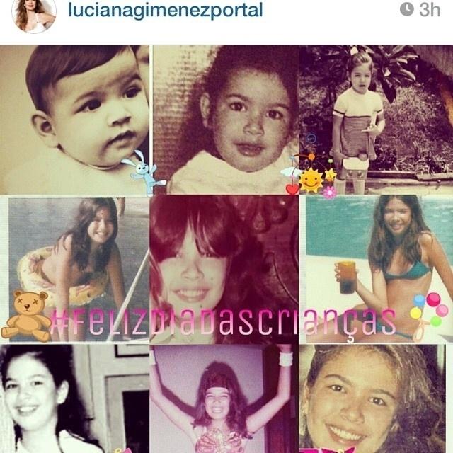 12.out.2014 - A apresentadora Luciana Gimenez publicou em seu Instagram diversas fotos de variadas fases de sua infância neste Dia das Crianças