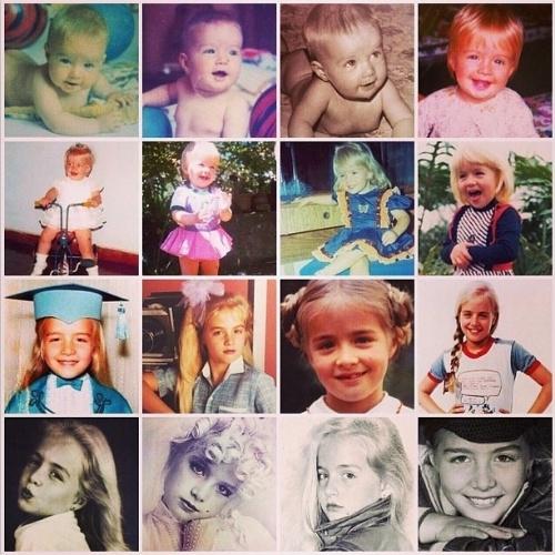 """12.out.2014 - Angélica fez uma montagem de fotos em diferentes fases da infância para celebrar o dia. """"Viva esse dia tão mágico! Vamos curtir e cuidar de nossas crianças"""", escreveu a apresentadora"""