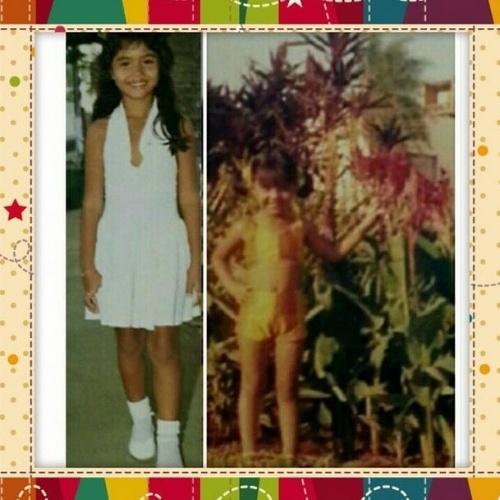 12.out.2014 - Gracyanne Barbosa fez uma montagem de fotos para celebrar o Dia das Crianças