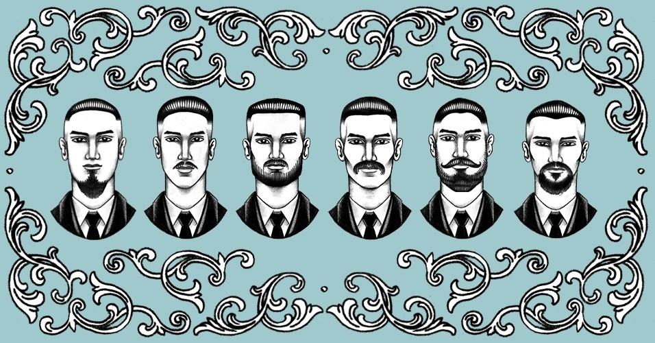 47976cc9e Barbeiros recomendam barba, bigode e cavanhaque para cada formato de rosto