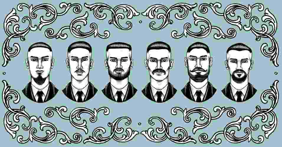 Barbas para cada formato de rosto - abre - João Pedro Pabst/Arte UOL
