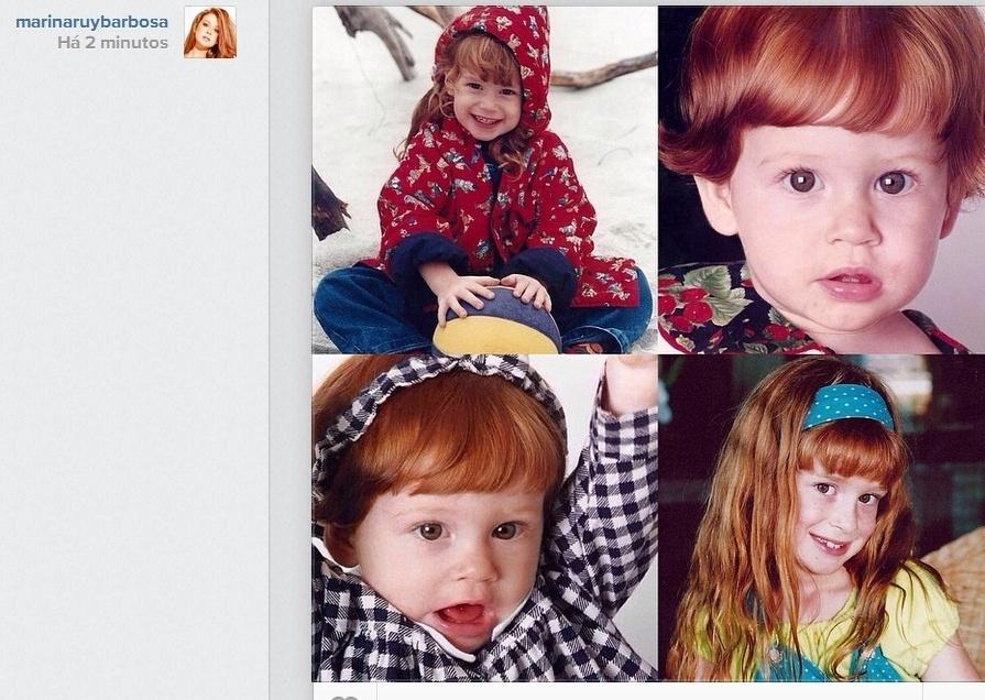 13.out.2014- Marina Ruy Barbosa publica fotos de quando era criança no Instagram. A Maria Isis, de