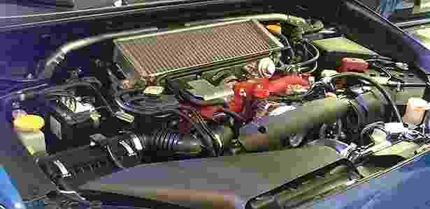 Motor boxer de 2,5 litros do Subaru WRX STI - Leonardo Felix/UOL - Leonardo Felix/UOL