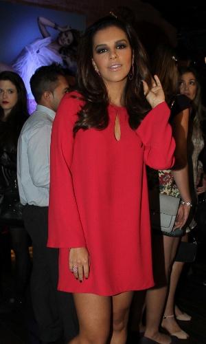15.out.2014 - Mariana Rios vai à festa de lançamento da coleção de Natal de uma marca de joias, em restaurante nos Jardins, em São Paulo nesta quarta-feira