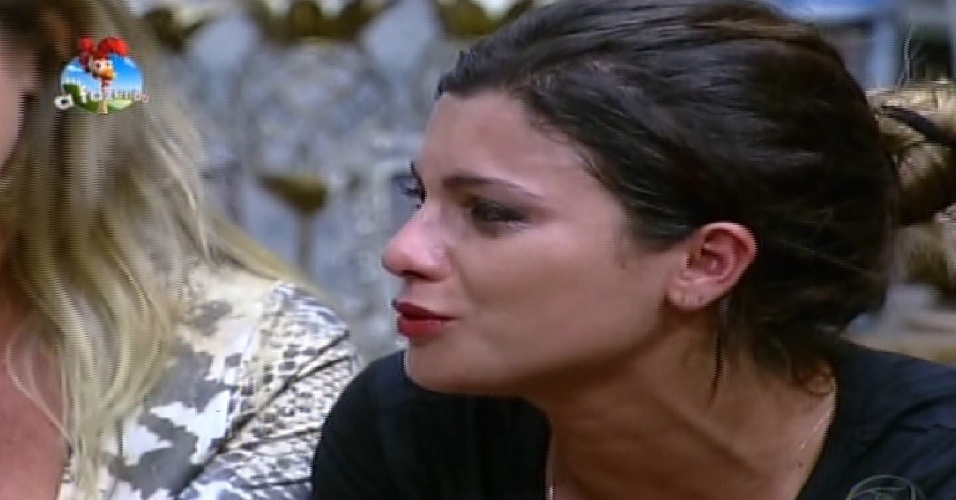 17.out.2014 - Babi Rossi chora depois de perder a prova da chave