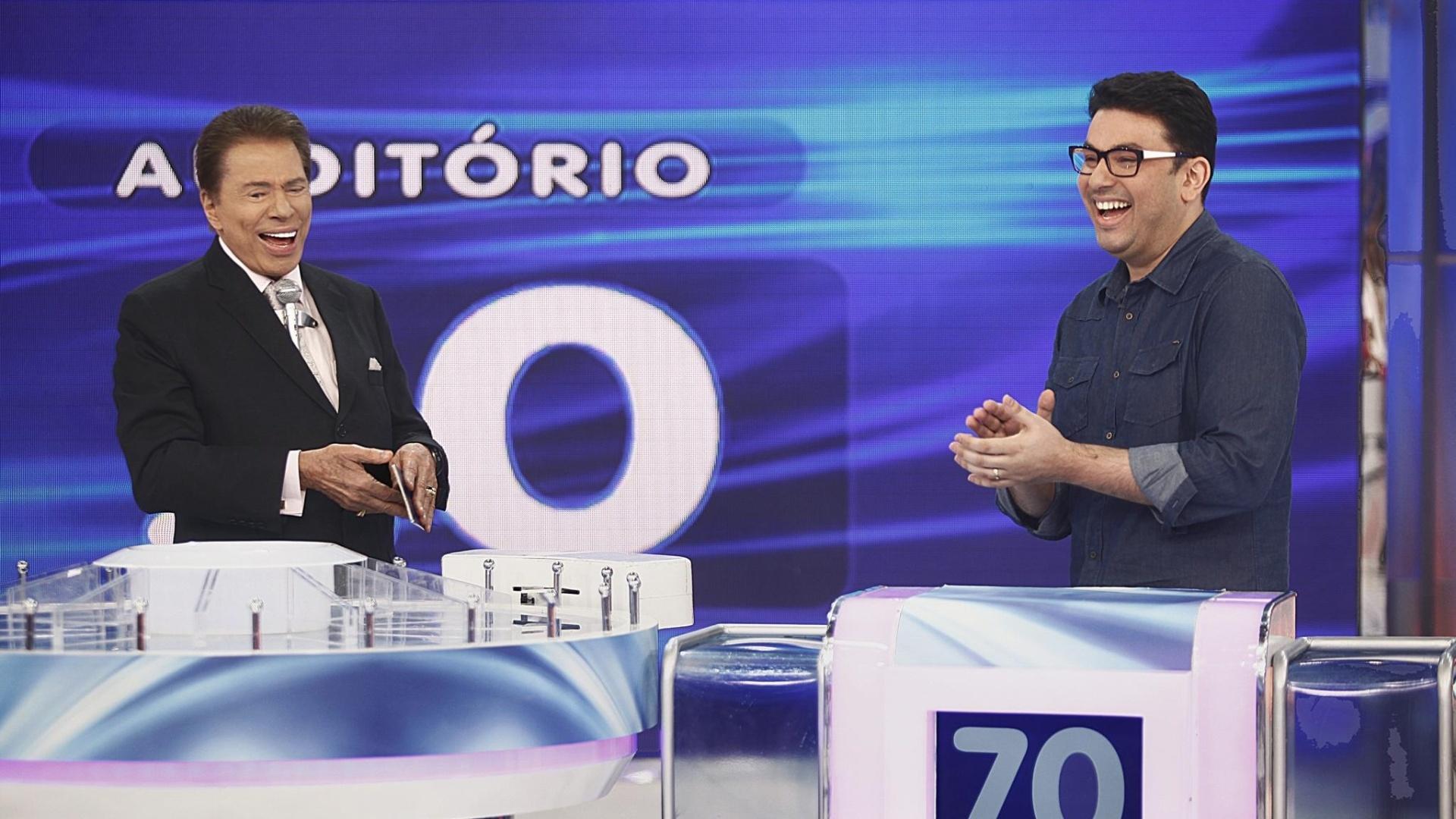 Silvio Santos recebe Robson Jassa em seu programa