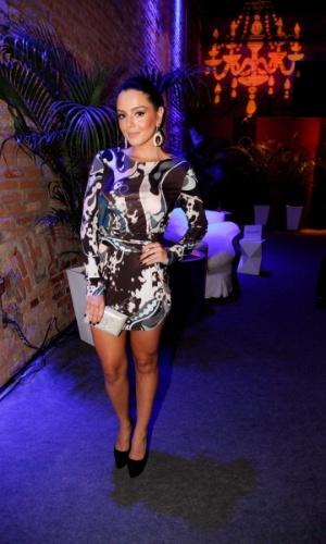 """18.out.2014 - Giovanna Lancelotti comparece à festa de lançamento de """"Alto Astral"""", nova novela das sete da Globo"""