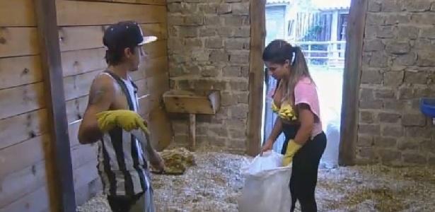 """Babi desabafa com DH em """"A Fazenda 7"""""""