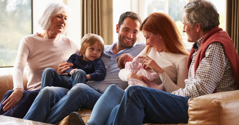 bebês, família, pais, visitas