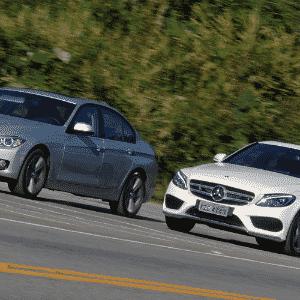 BMW 328i ActiveFlex e Mercedes-Benz C250 Sport - Murilo Góes/UOL