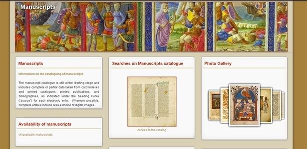 Site da Biblioteca Apostólica Vaticana mostra o catálogo dos manuscritos - Reprodução