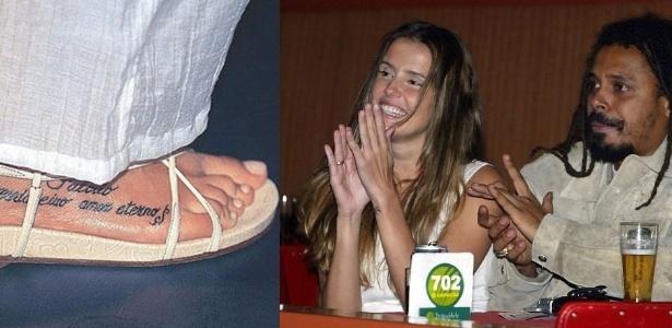 """Deborah Secco começou a namorar Falcão, vocalista da banda """"O Rappa"""", em 2004. A paixão foi tão intensa que a atriz fez uma tatuagem no pé em homenagem ao amado. O romance acabou em 2006 e ela apagou o desenho com sessões de laser"""