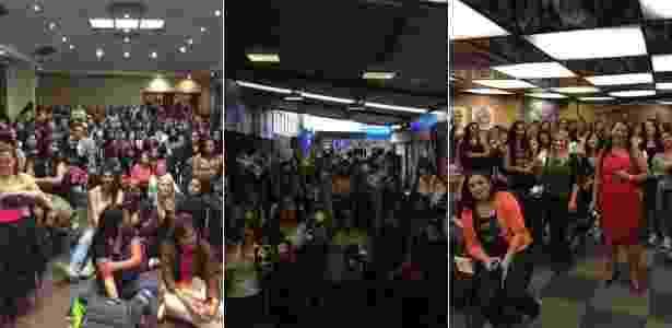 """""""Las Guerreras"""", alcunha das fãs de Megan Maxwell, em encontros na Colômbia, México e Brasil - Divulgação - Divulgação"""