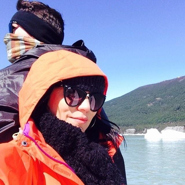 22.out.2014 - A apresentadora Geovanna Tominaga publicou foto da viagem com o namorado, Eduardo Duarte, à Patagônia
