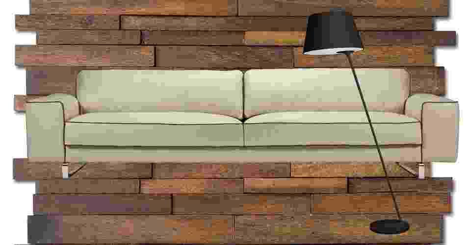 Moderno: esse estilo pede poucas (e boas) peças, sempre com linhas retas e simples. Segundo a designer de interiores Betina Barcellos, móveis com design assinado, cores neutras e revestimento em madeira são bem-vindos. Obras de arte, como fotografias, complementam a decoração contemporânea - Divulgação/Montagem UOL